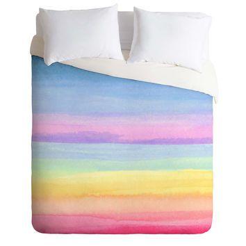 Joy Laforme Rainbow Ombre Duvet Cover