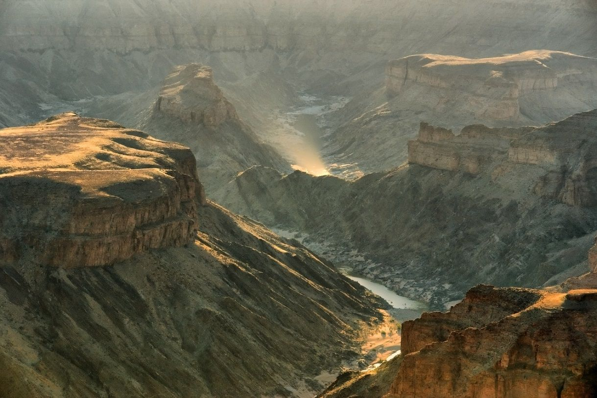 Fish River Canyon at sunset