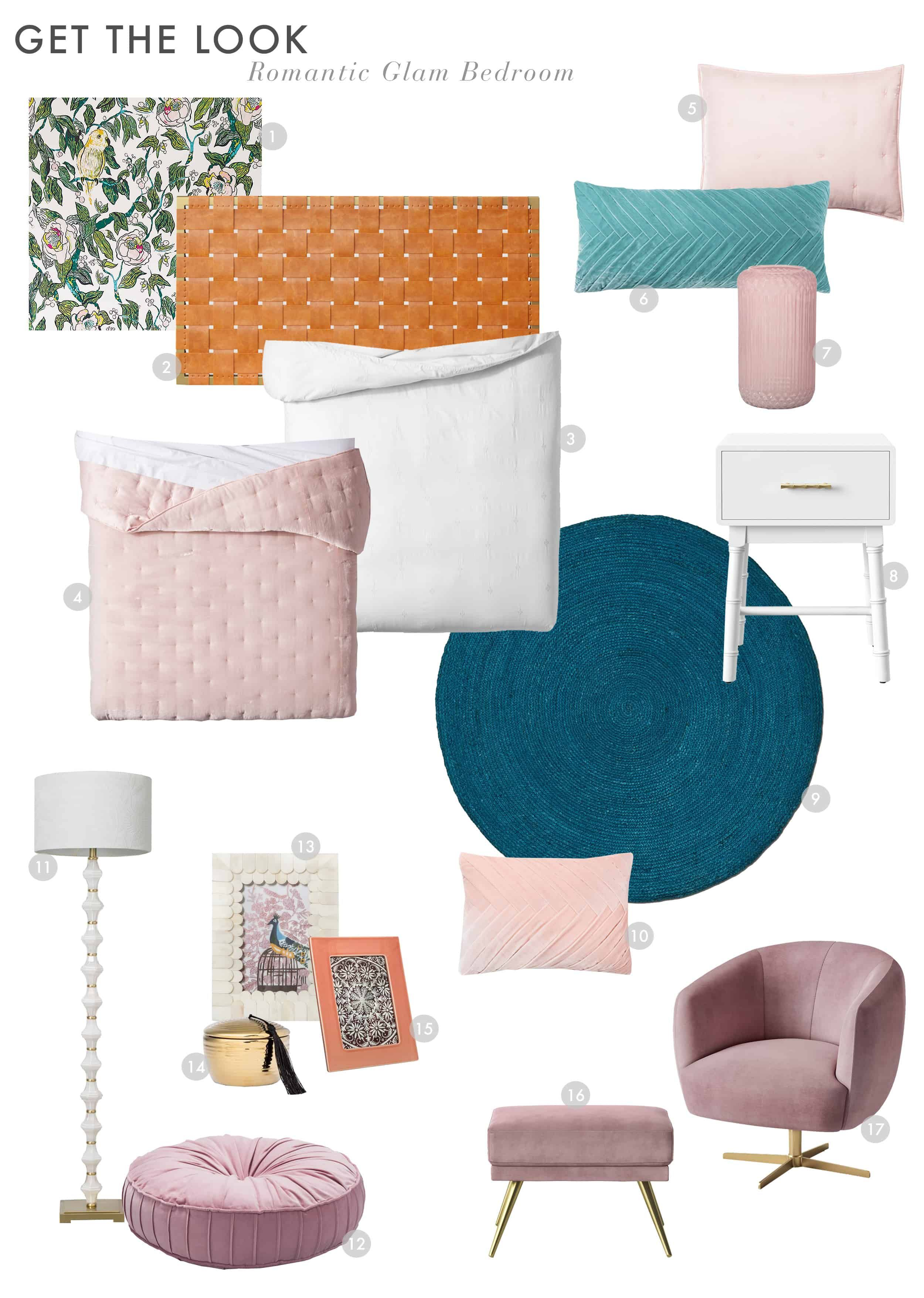 A Romantic Glam Bedroom Makeover With Opalhouse By Target – Emily Henderson