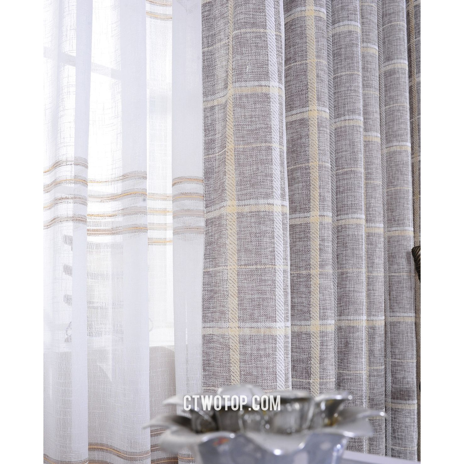 80x72 Shabby Rustic Chic Burlap Shower By Betterhomeliving With