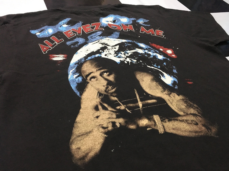 Vintage Tupac Shirt 2pac Shakur All Eyez On Me Double Sided Etsy In 2020 All Eyez On Me Tupac Vintage Rap Tees