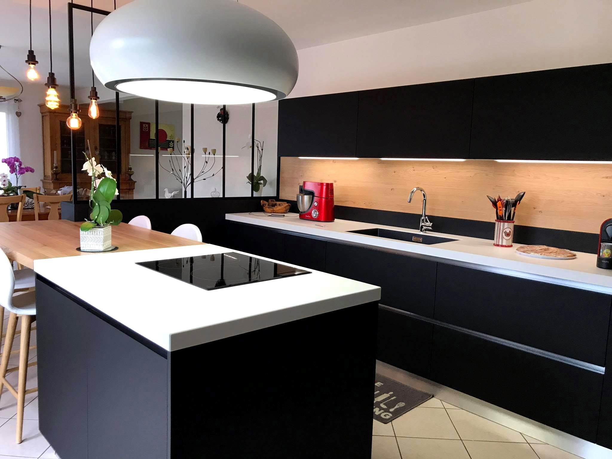 Cuisine Moderne Avec Ilot Gallery En 2020 Meuble Cuisine Cuisine Moderne
