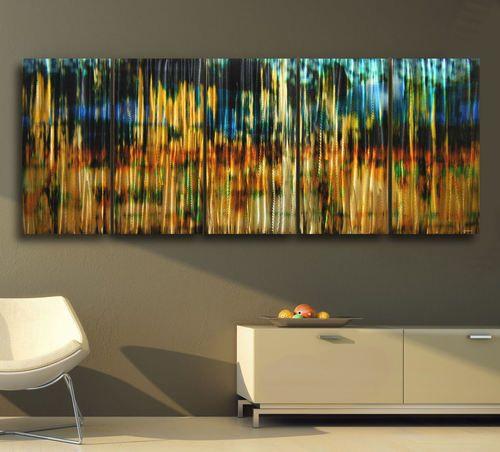Metal modern abstract wall art painting sculpture large original contemporary ebay