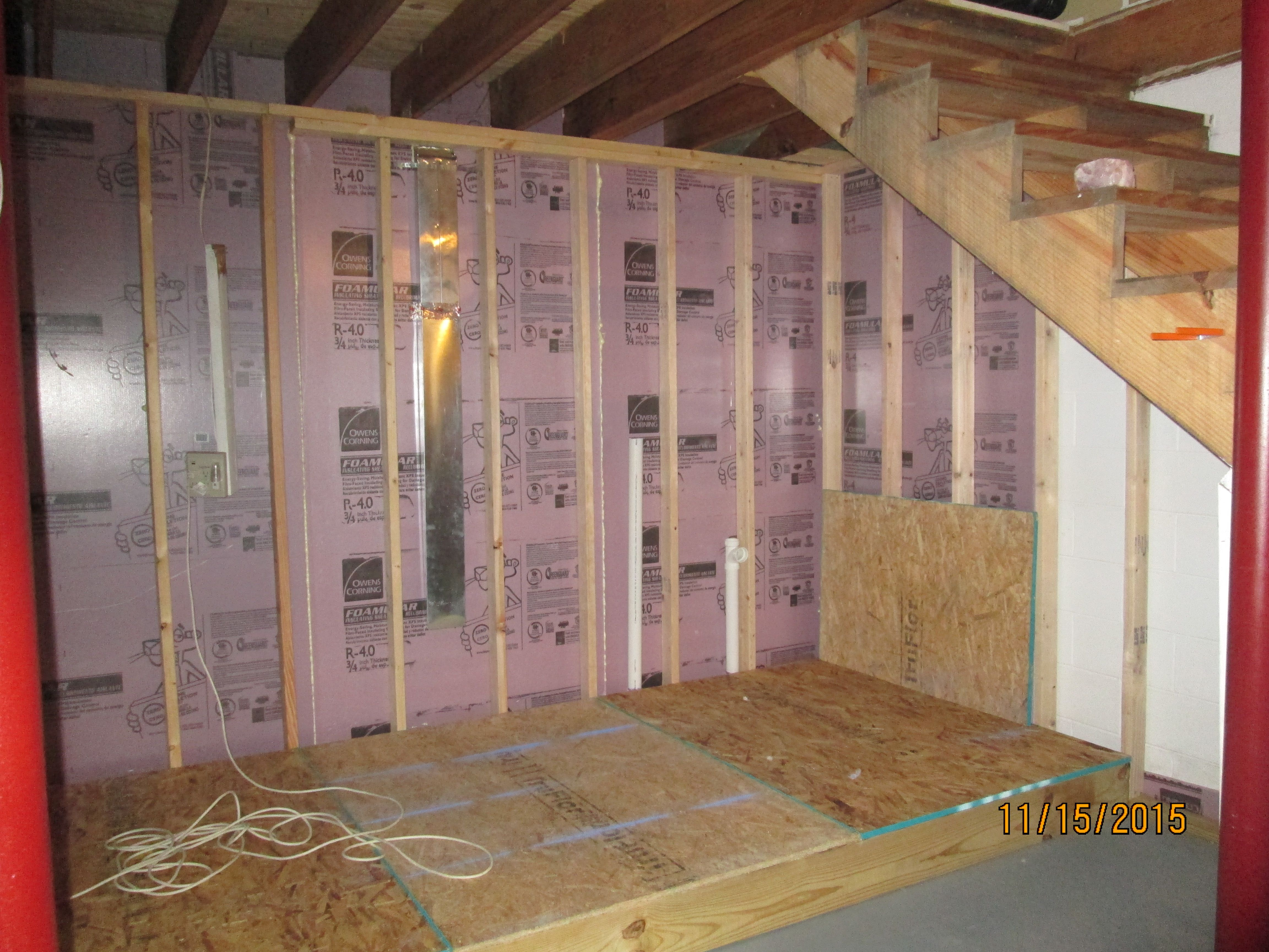 Raised Floor Over Plumbing Laundry Room Bathroom Basement Bathroom Remodeling Bathroom Plumbing Bathrooms Remodel