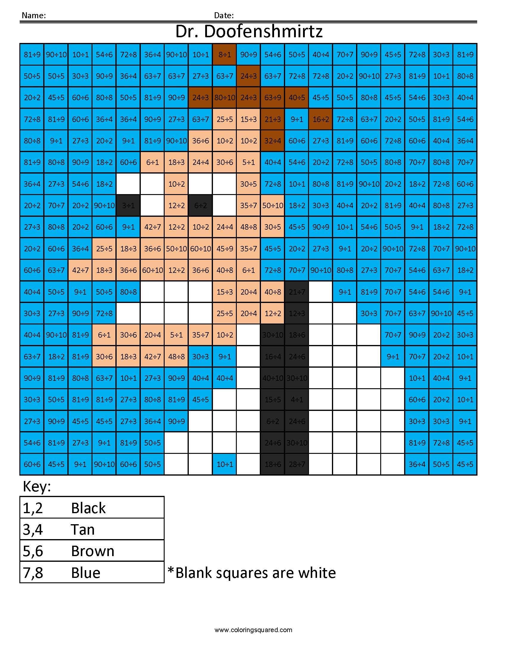 Dr doofenshmirtz cartoon multiplication and division
