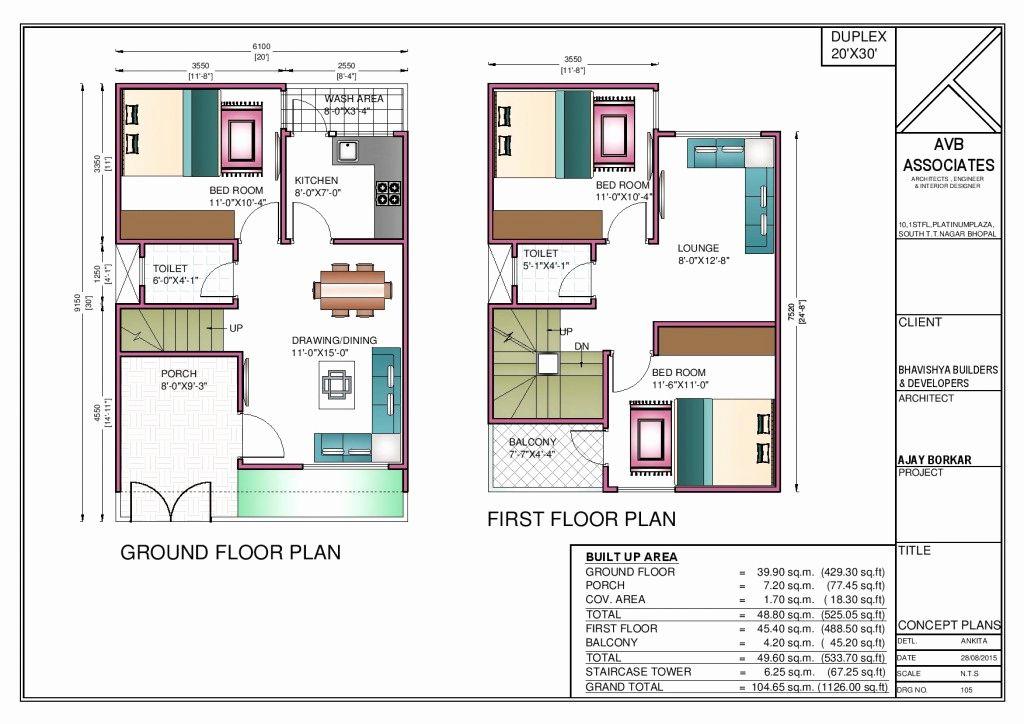 20 X 50 Square Feet House Plans Fresh 40 X 45 East Facing House Plans Liveideas 20x30 House Plans House Construction Plan Duplex House Plans