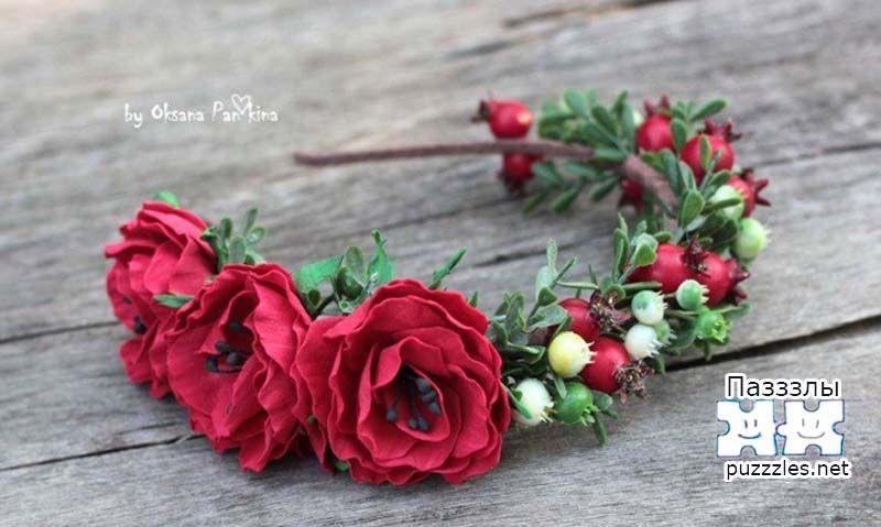 ободки с цветами из фоамирана фото