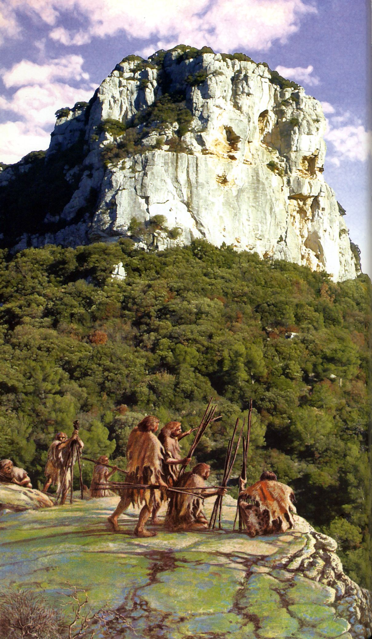 Neanderthals In Paleolithic Liguria By Studio Inklink