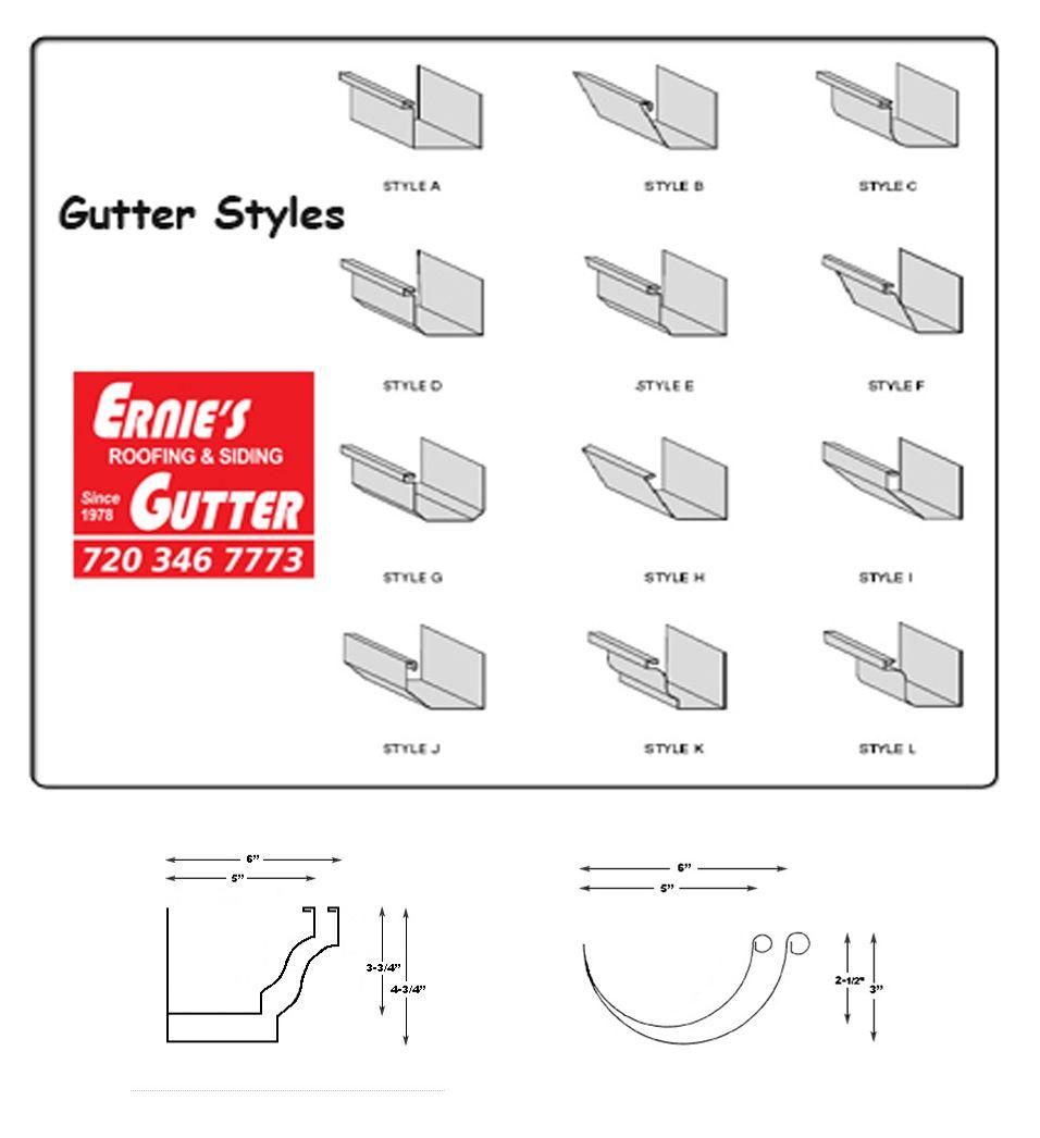 Types Or Rain Gutter Systems 720 346 7773 Http Www Erniesgutter Com Services Siding Rain Gutters Gutter Roof Siding