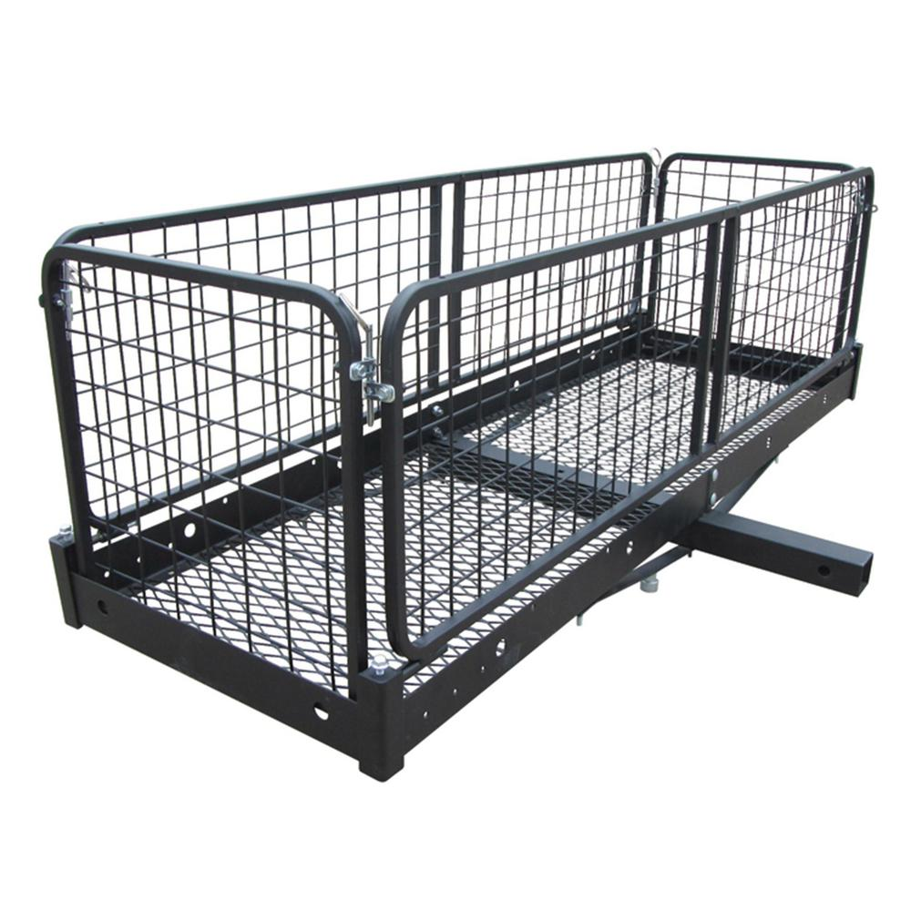 Pro Series 6502 Black 48 x 20 Hitch Mounted Folding Cargo Carrier