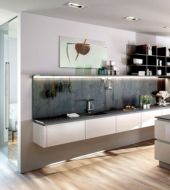Kitchen Design Trends 2016 U2013 2017 Floating Kitchen Effect With No Lower  Cabinets. Part 47