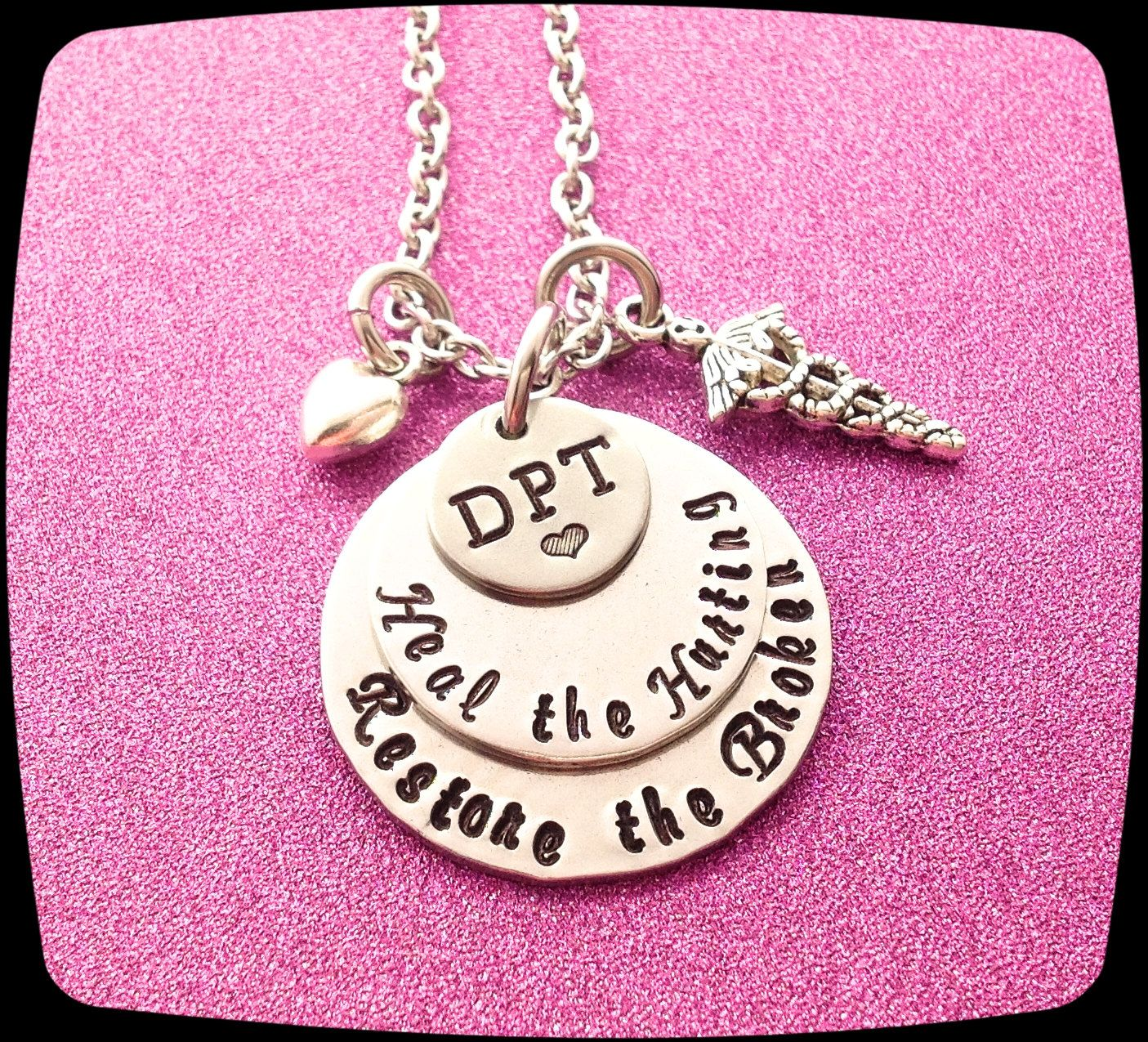 Physical Therapist Jewelry APTA Occupational Therapy Gift PT Caduceus Necklace