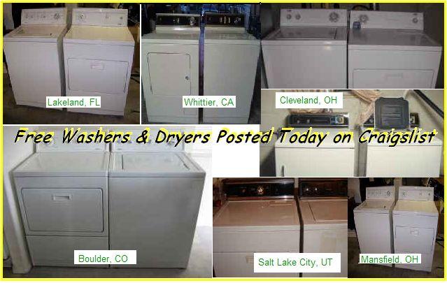 Free Washers And Dryers On Craigslist Laundry Machine Laundry Washer