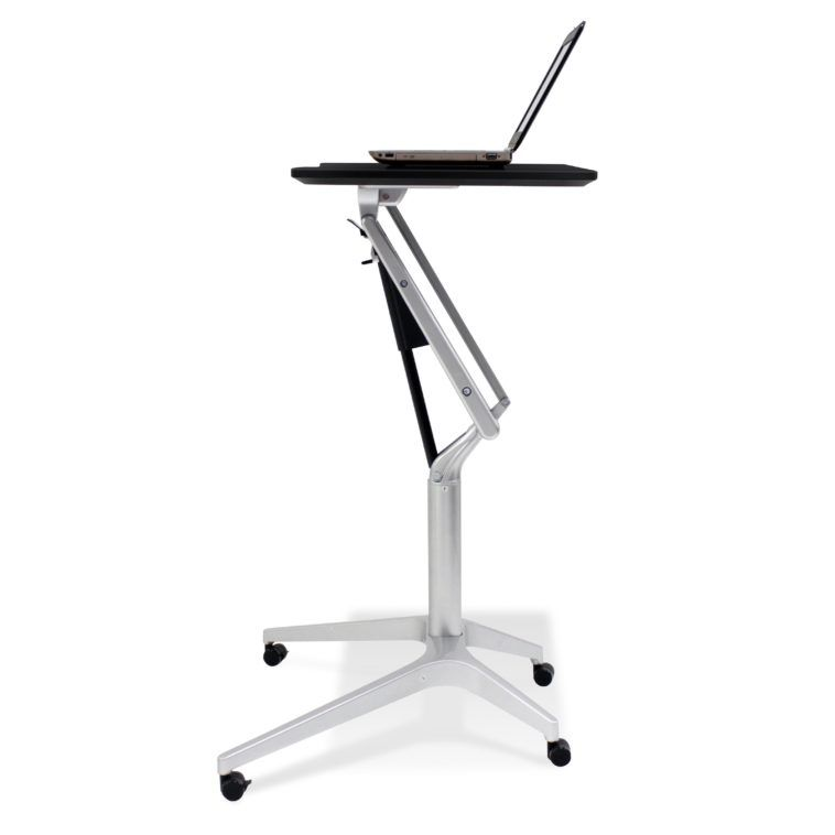 Stylish Small Adjustable Height Standing Laptop Desk On Wheels
