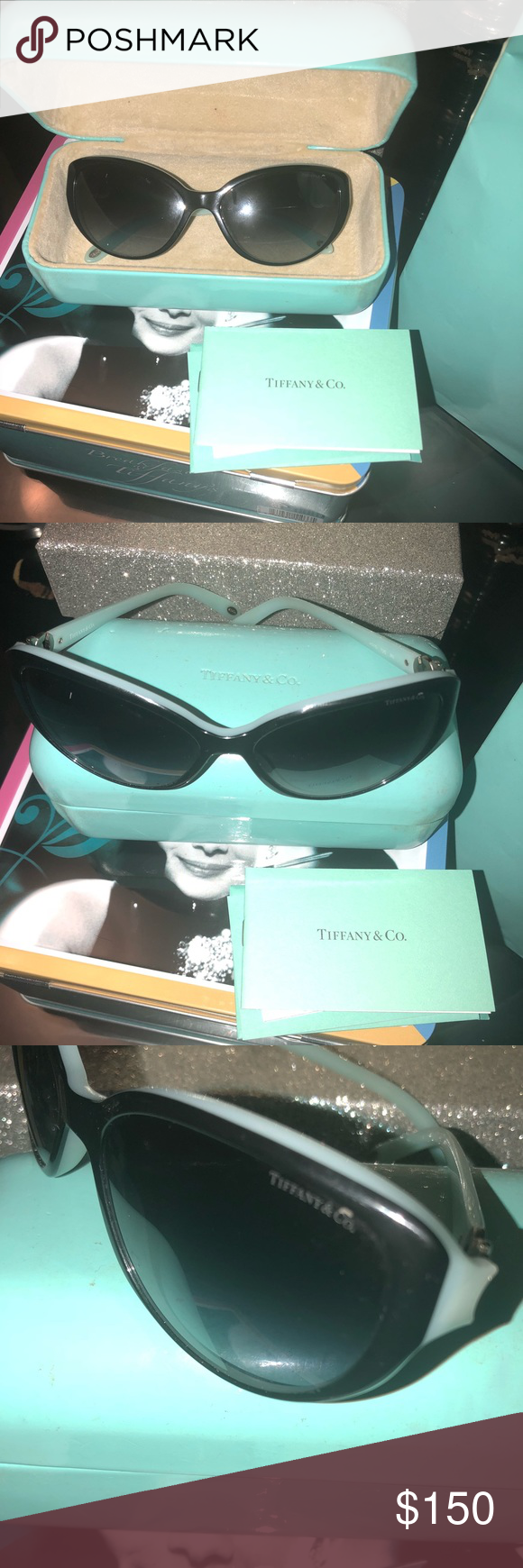 bbbc009a16e1 Tiffany   Co. Women s Polarized Cat Eye Sunglasses Tiffany   Co. Women s  Polarized TF 4088 8134 3b Cat Eye Blue Heart Sunglasses Used in Great  condition