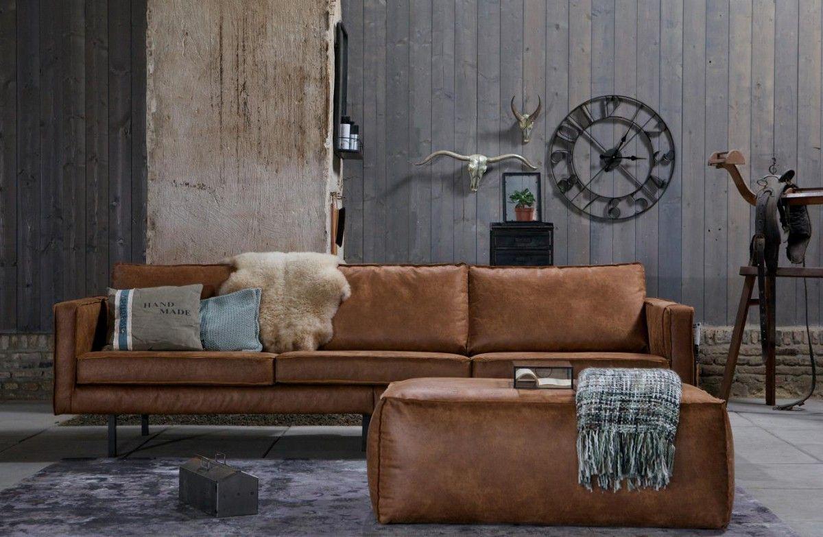 Ledersofa Rodeo 3 Sitzer Cognac 280 Canape Vintage Canape Cuir Vintage Et Mobilier De Salon