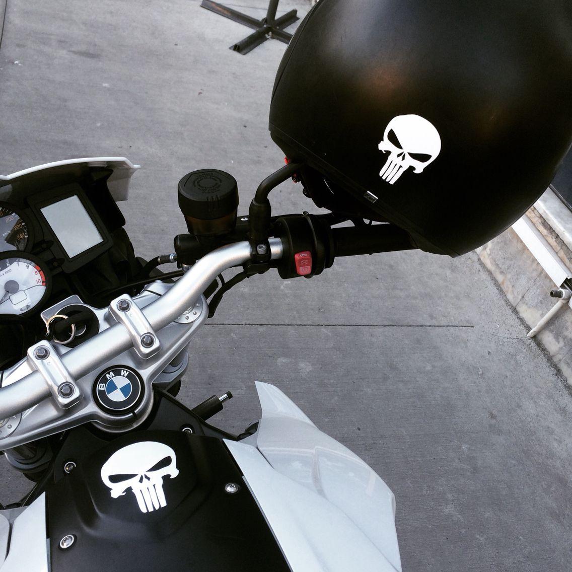 The Punisher Bike Bmw F800r Shark Helmet My Precious