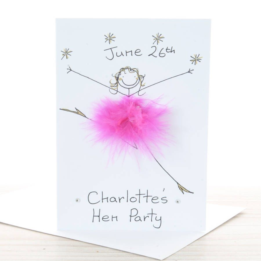 Handmade Personalised Hen Party Invitation | Hens party ...