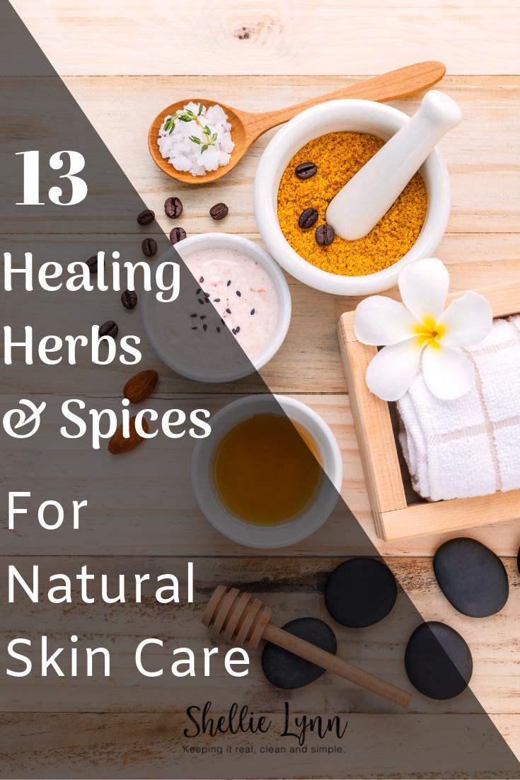 13 Heilkräuter und Gewürze für die natürliche Hautpflege