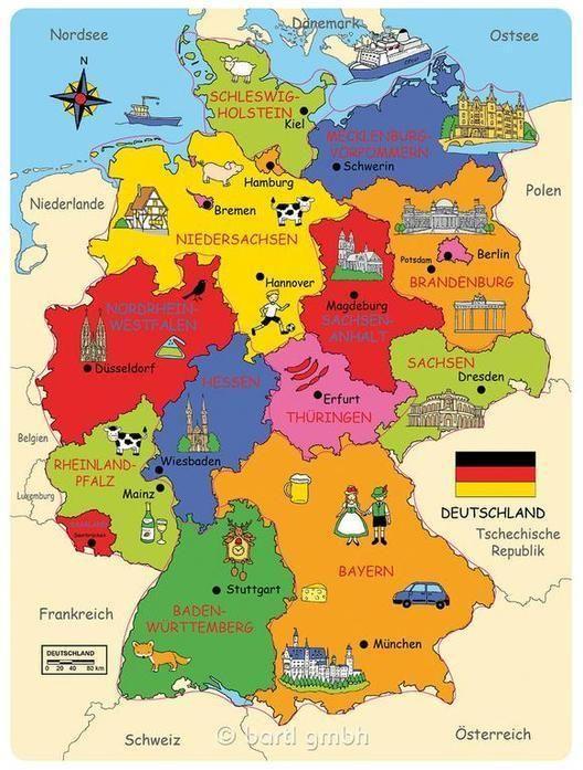 Deutschland Karte Hochwertige Landkarte Aus Holz 101818 Danemark