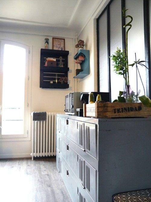 Transformer un vestiaire en métal en meuble de rangement - DIY Kis