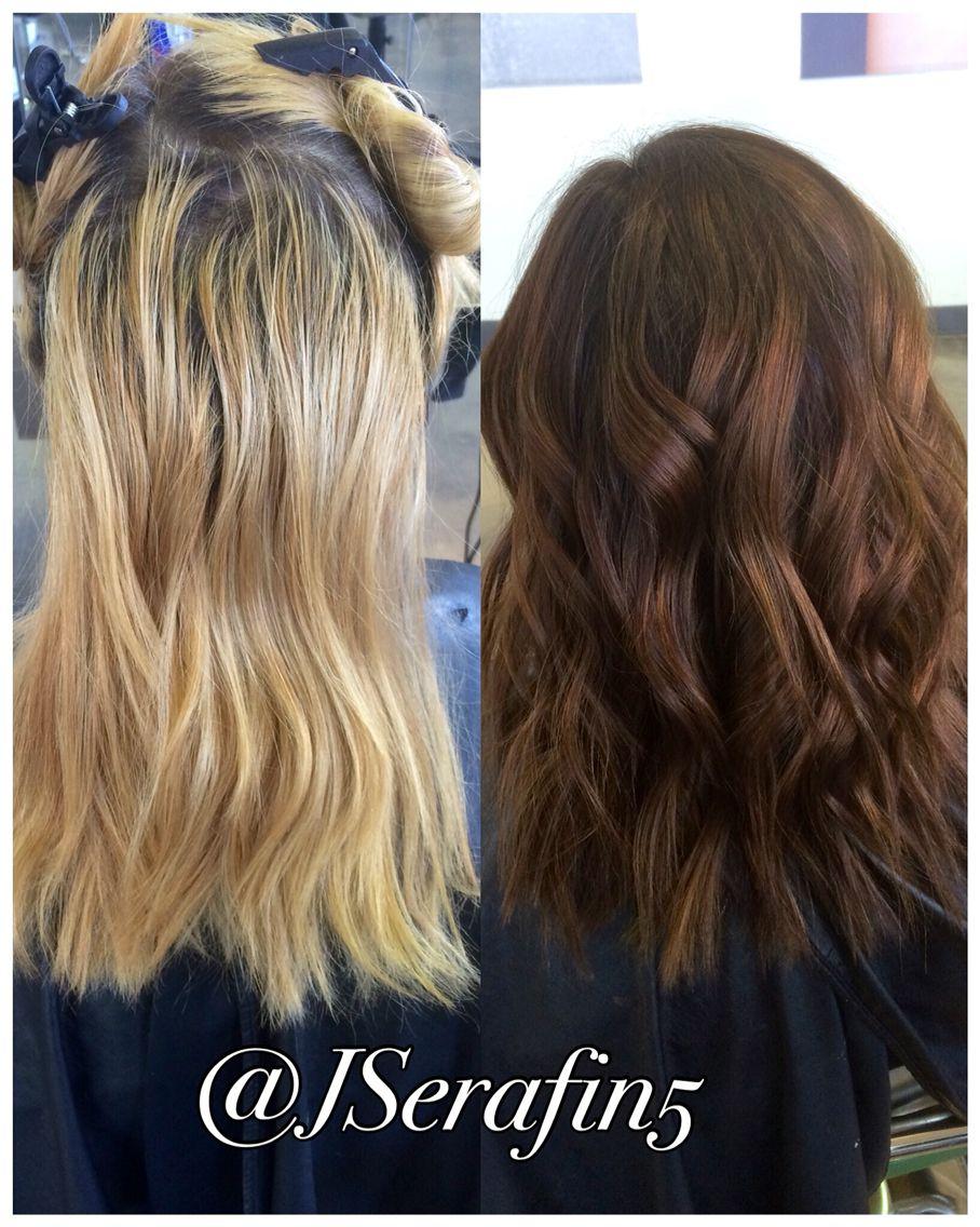 Dimensional warm Hair color, Long hair styles
