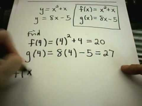 Function Notation Youtube Free Math Math Videos Notations