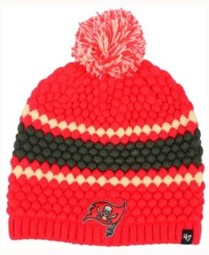 '47 Brand Women's Tampa Bay Buccaneers Leslie Pom Knit - Red Adjustable