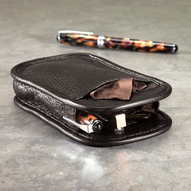 Two Pens and Your Glasses - Leather Eyeglass Case, Pen Sleeves | Leather eyeglass  cases, Eyeglass case, Leather