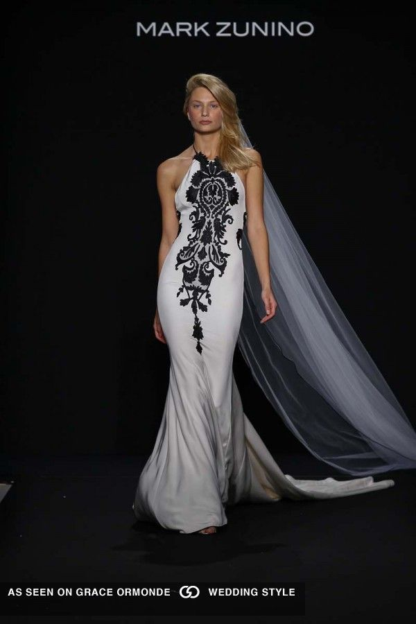 Wedding Dresses with Black Detail