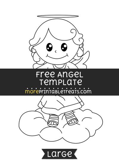 Free Angel Template - Large Shapes and Templates Printables