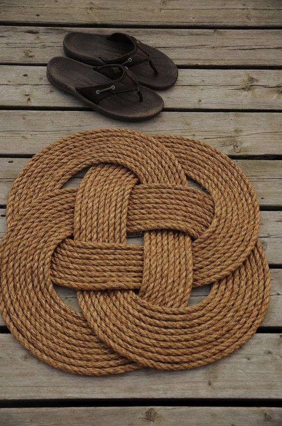Nautical Front Door Rope Rug By Oyknot On Etsy Tapete De Corda Fios De Arte Artesanato