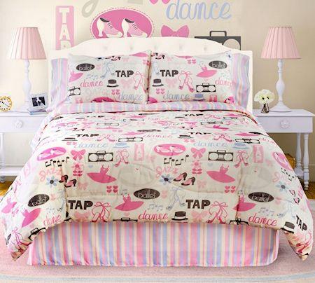 Modern Girl Ballet Dancer Ballerina Bedding Twin Comforter ...