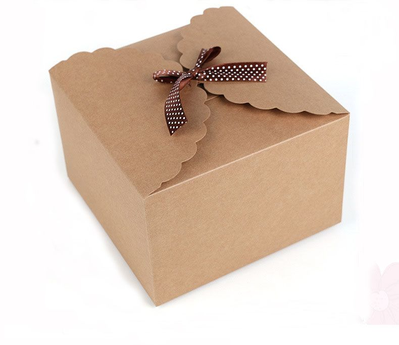 Aliexpress Com Buy 1000pcs 12 12 6cm Brown Packaging Kraft Paper Box For Candy Cake Jewelry Gift Cho Gift Boxes Wholesale Candy Wedding Favors Paper Gift Box