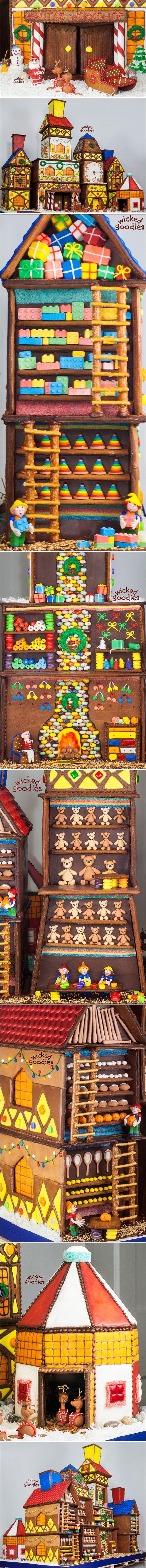 Award-Winning Gingerbread House Interpretation of Santa's Workshop by Wicked Goodies