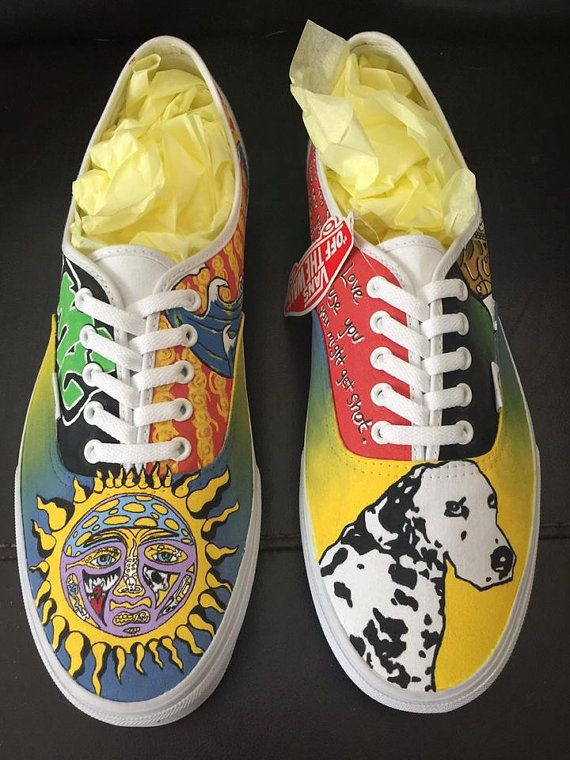 a375cfc49ed02a Sublime custom hand painted shoes VANS TOMS by HeavenlyHayley ...