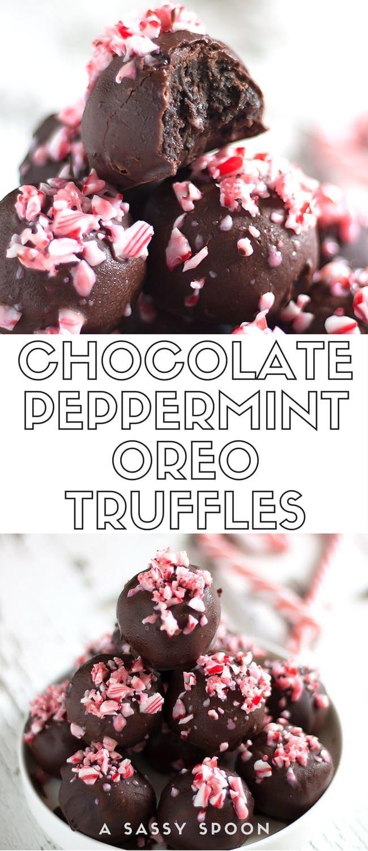 Chocolate Peppermint Oreo Truffles