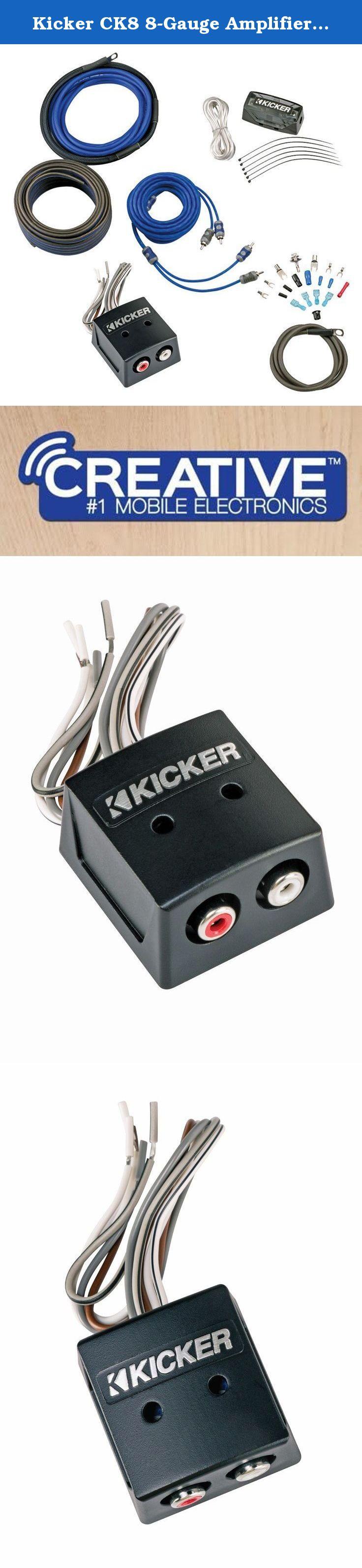 Kicker CK8 8-Gauge Amplifier Kit with KISLOC Line Output Converter
