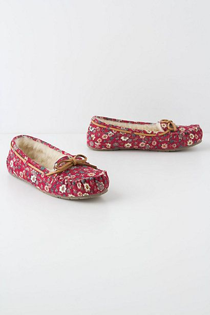 Plucked Posy Slippers #anthropologie