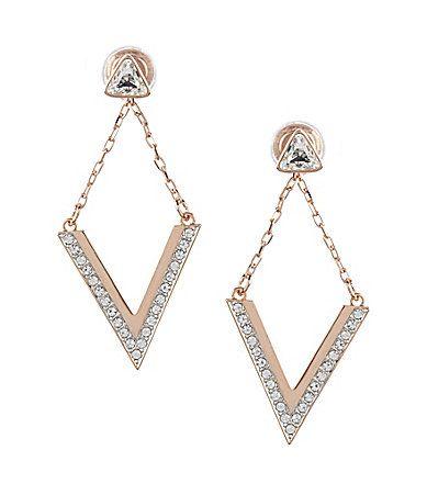Swarovski Delta 2in1 Earrings Dillards