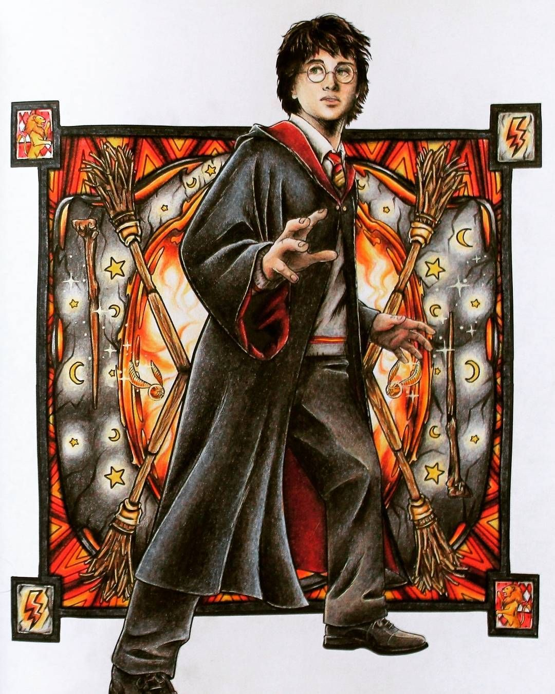 Harry Potter. Magical places and Characters coloring book ...