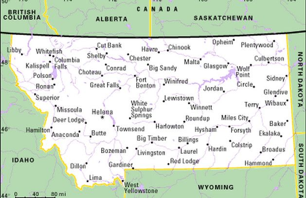Map Of Cities In Montana Montana Map - Montana map with cities