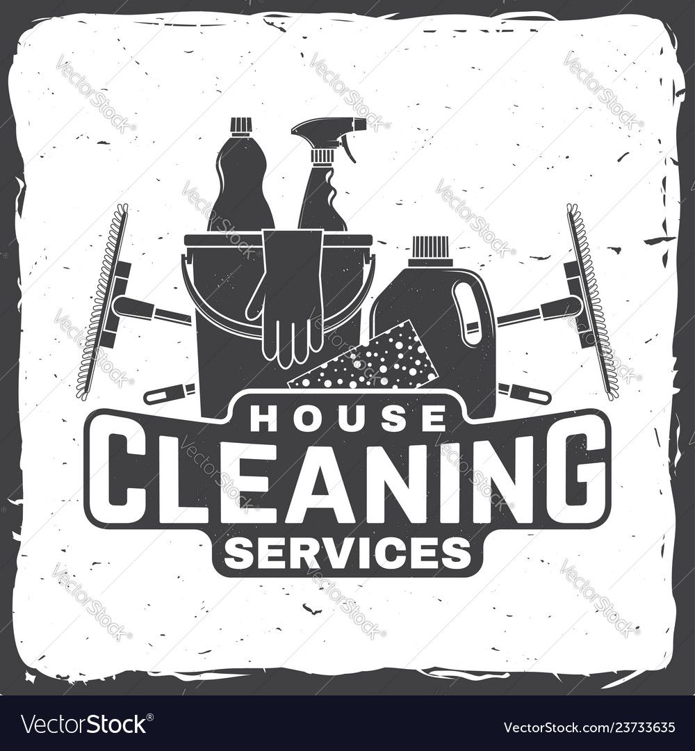 Cleaning company badge emblem vector image on vectorstock
