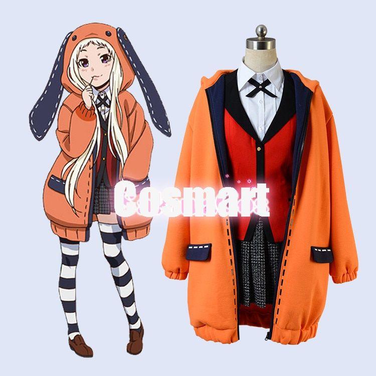Kakegurui Compulsive Gambler Yomozuki Runa Cosplay Coat Full Set Uniform Outfit
