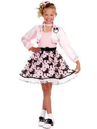 Pretty in Poodle Child Wholesale 50\u0027s Halloween Costumes for Girls