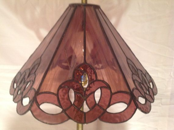 This handcrafted six panel stained glass lamp shade reflects creamy explore stained glass lamp shades leaded glass and more mozeypictures Gallery