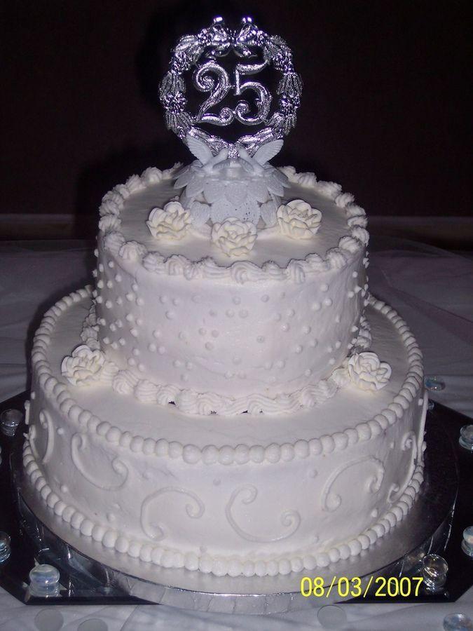 25th Wedding Anniversary Cake Anniversary Cake Wedding