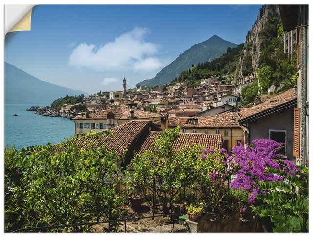 Photo of Buy Artland wall film »Melanie Viola: Lake Garda Limone sul Garda« online OTTO
