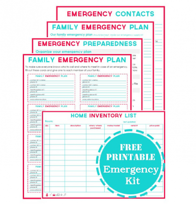 Printable Emergency Plan Template  Emergency Preparedness