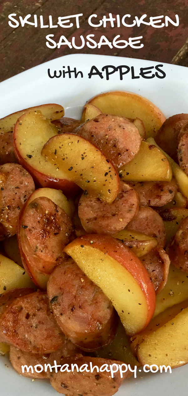 Skillet Chicken Sausage with Apples images